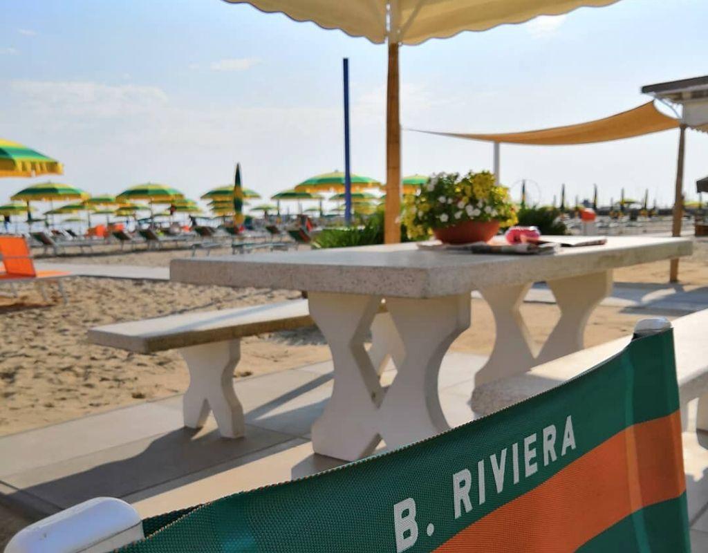 La Spiaggia - Bagno Riviera 1 di Rivabella - gazebo relax