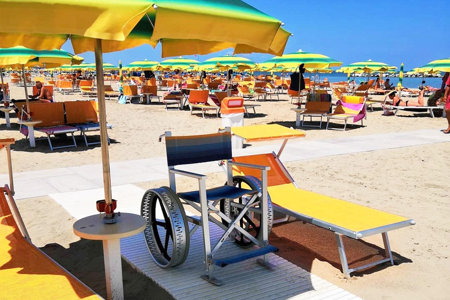 Servizi Bagno Riviera 1 Rivabella - accesso disabili