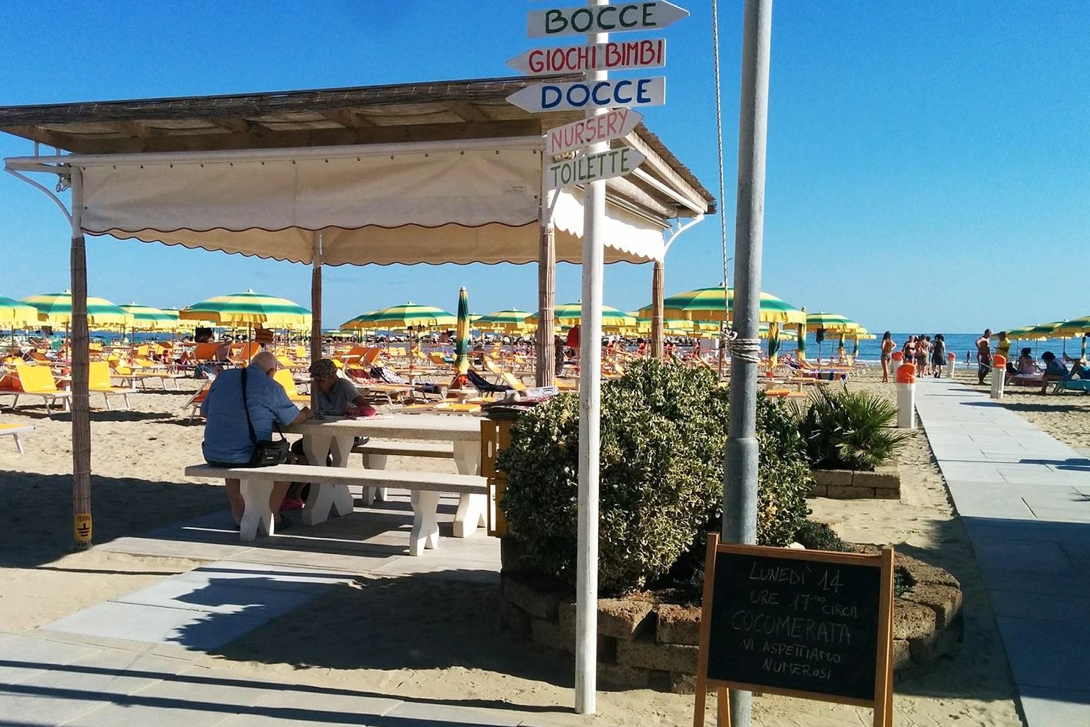 Servizi Bagno Riviera 1 Rivabella - relax e gazebo