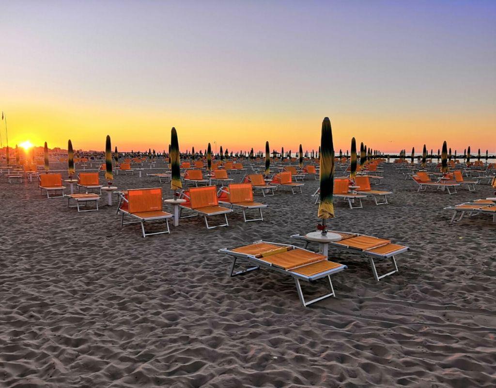 Bagno Riviera 1 Rimini a Rivabella - Spiaggia
